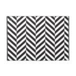 Black and White twill iPad Mini Cover