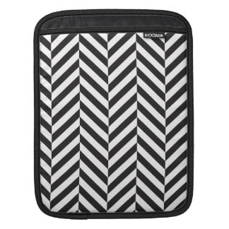 Black and White twill Sleeve For iPads