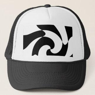 Black And White Twirls Trucker Hat