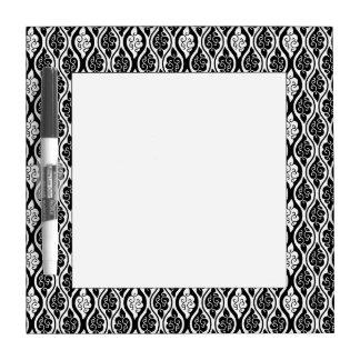 Black and White Twirly Swirly, Curl Dry Erase Board