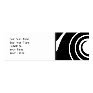 Black and White Twist. Business Card Template