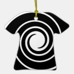 Black and White Twist. Christmas Ornament