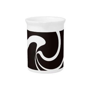 Black and White twist Drink Pitcher