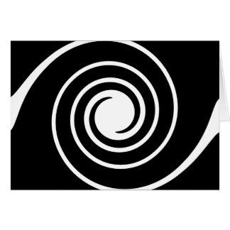 Black and White Twist. Greeting Card