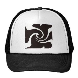Black and White twist Trucker Hats