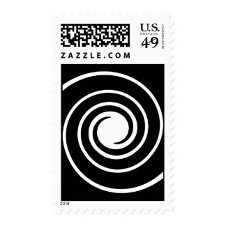 Black and White Twist. Postage Stamps