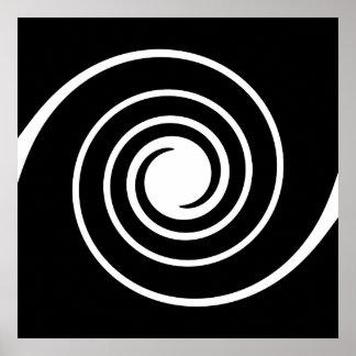 Black and White Twist. Print
