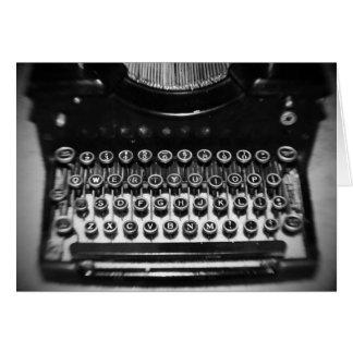 Black and White Typewriter Card