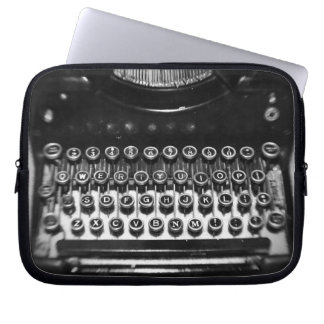 Black and White Typewriter Laptop Computer Sleeve