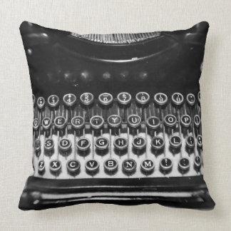 Black and White Typewriter Pillows