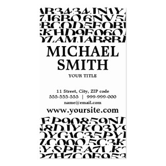 Black And White Typography business card