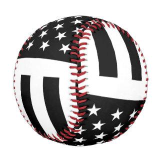 Black and White U.S. American Flag Baseball
