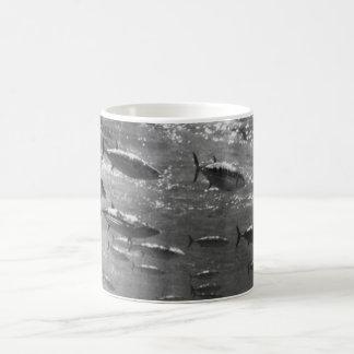 Black and White underwater photograph of Tunas Coffee Mug