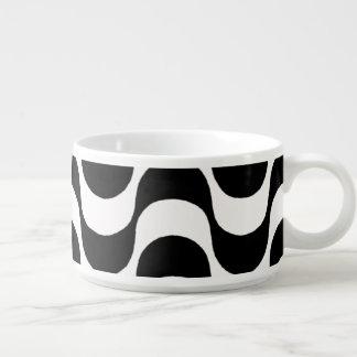 black and white undulation bowl