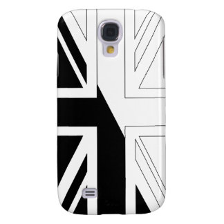 Black and White Union Jack British(UK) Flag Galaxy S4 Case