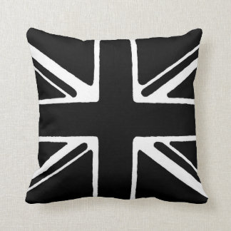Black and white union jack throw pillow