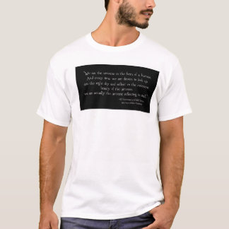 Black and White Universe Quote T-shirt