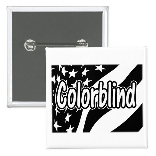 Black and White US Flag - Colorblind Pinback Buttons