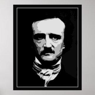 Black and white vector art, Edgar Allan Poe Poster