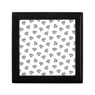 Black and white version of diamond. gift box