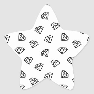 Black and white version of diamond. star sticker