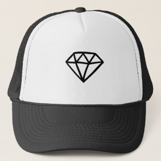 Black and white version of diamond trucker hat