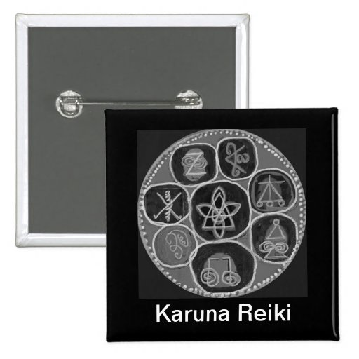 Black and White Version - Reiki n Karuna Button