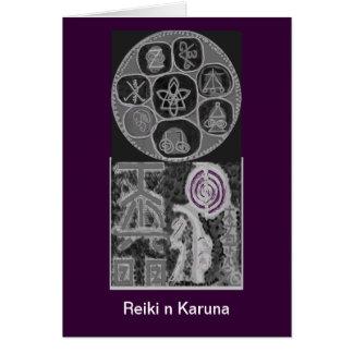 Black and White Version - Reiki n Karuna Greeting Card