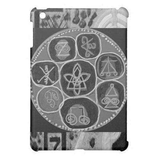 Black and White Version - Reiki n Karuna iPad Mini Cases