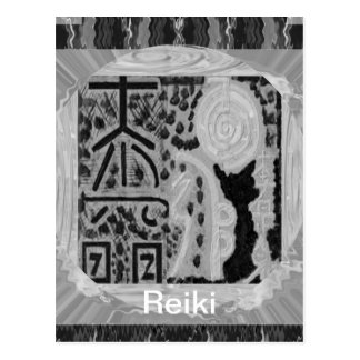 Black and White Version - Reiki n Karuna Postcard