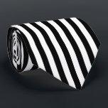 "Black and White Vertical Referee Stripes Neck Tie<br><div class=""desc"">Black and white vertical stripes pattern.</div>"