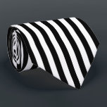 "Black and White Vertical Referee Stripes Neck Tie<br><div class=""desc"">Black and white vertical stripes pattern.</div>"