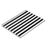 Black and White Vertical Referee Stripes Notebook