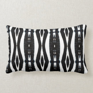 Black and White Vertical Striped Pattern Throw Pillow