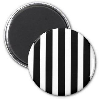 Black And White Vertical stripes Magnet