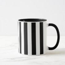 Black and White Vertical Stripes Mug