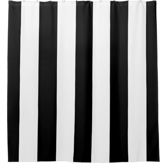 black white striped shower curtain. Black and White Vertical Stripes Shower Curtain  Zazzle com