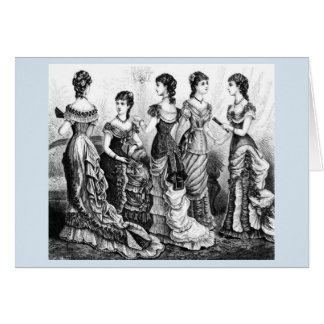 Black And White Victorian Fashions Card