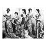 Black And White Victorian Fashions Postcard at Zazzle