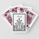 Black and White Victorian Floral Design Bicycle Card Decks