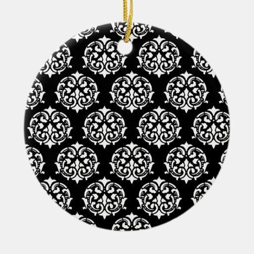Black and White Victorian Ornaments
