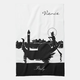 Black and White Vience Italy Kitchen Towel