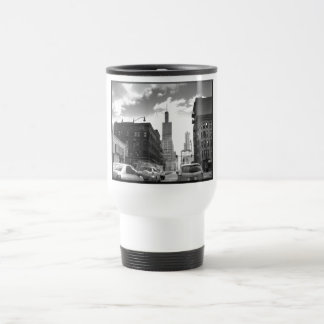 Black and White View of Sears Tower Travel Mug