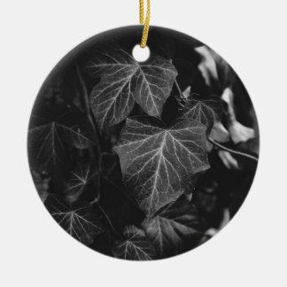 Black and White Vine Photograph Ceramic Ornament