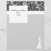 Black and White Vines Wedding Stationery
