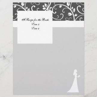 Black and White Vines Wedding Stationery