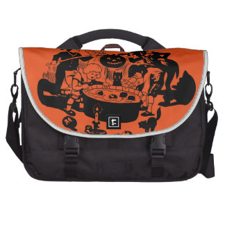 Black and White Vintage Apple Bobbing Commuter Bags