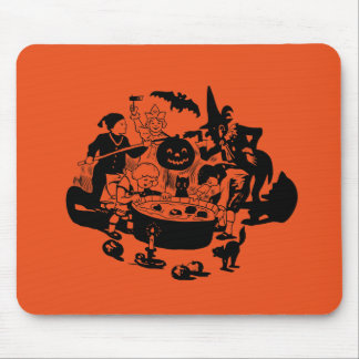 Black and White Vintage Apple Bobbing Mouse Pad
