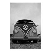 Black and White vintage bus