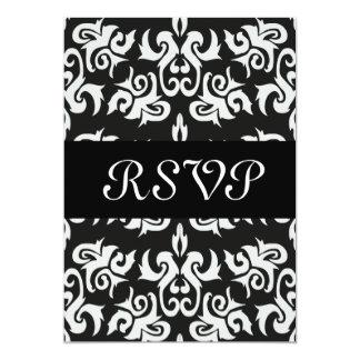 Black and White Vintage Damask Invitations